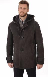 Duffle-Coat Merinos Anthracite Homme1
