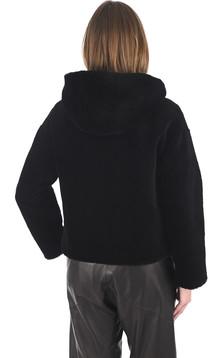 Blouson laine noir