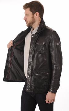 Veste Cuir Noir pour Homme