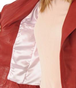 Blouson en cuir Lovely rouge Giorgio