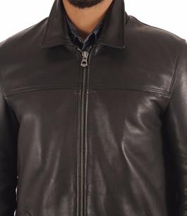 Veste Cuir de Vachette Noir Homme La Canadienne