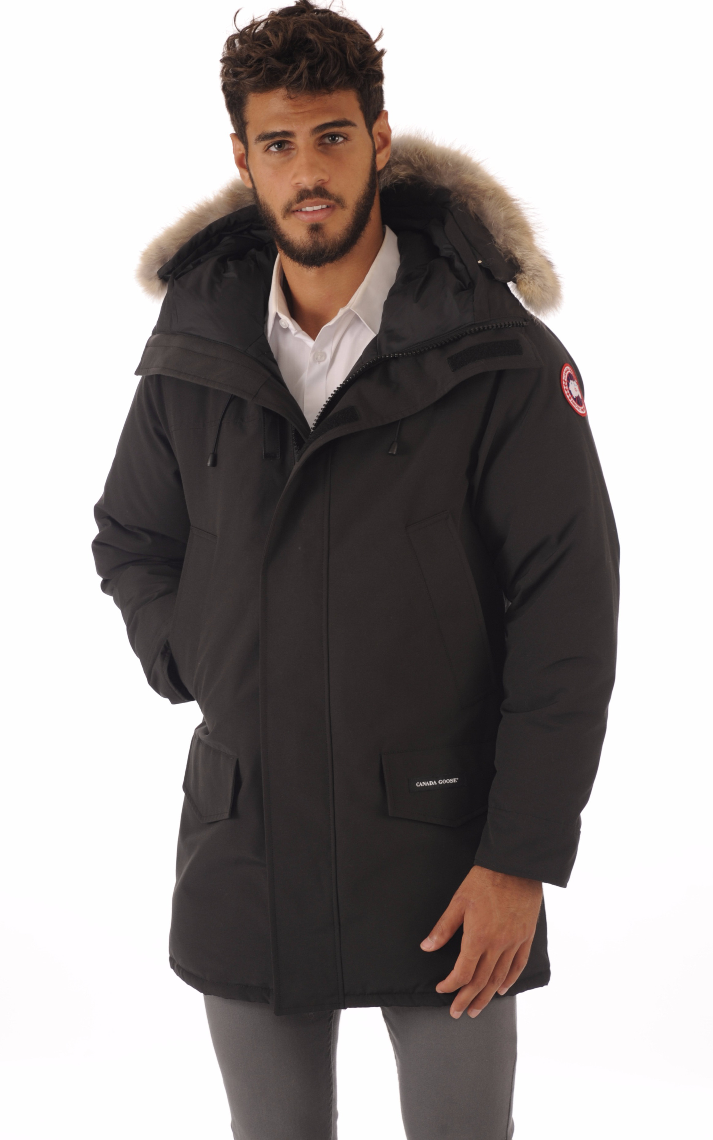 parka langford noir canada goose la canadienne. Black Bedroom Furniture Sets. Home Design Ideas