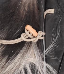 Gants Noir Cuir et fourrure Femme Fabre