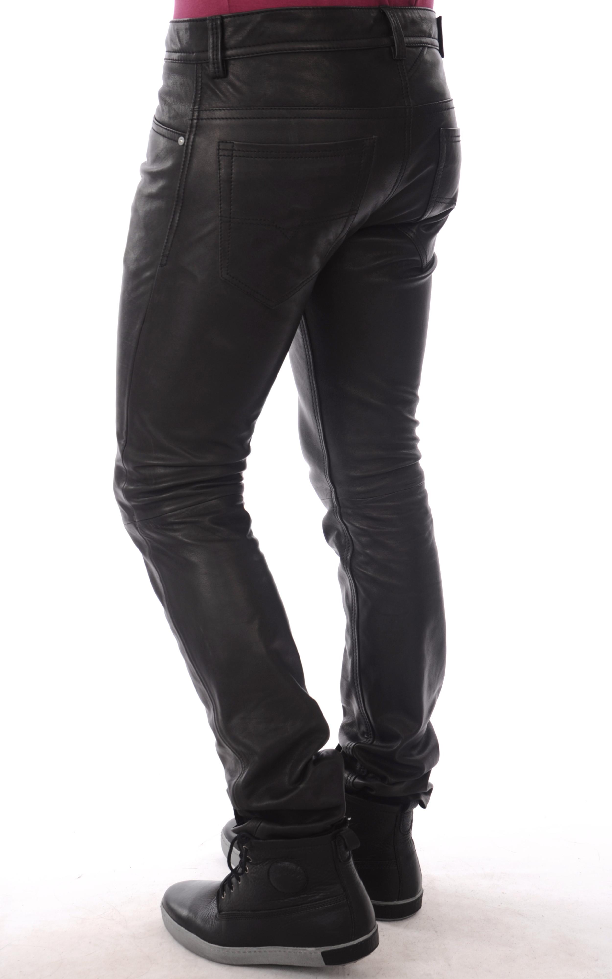pantalon cuir slim 5 poches. Black Bedroom Furniture Sets. Home Design Ideas