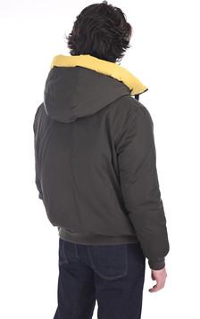 Doudoune réversible Alvin kaki et jaune