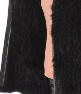 Gilet Noir Fourrure Lapin Oakwood
