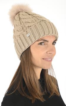 Bonnet en laine taupe