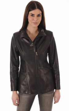 Veste Confortable Cuir Noir1