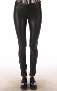 Legging Cuir Stretch Noir1