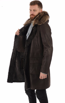 Manteau agneau et marmotte