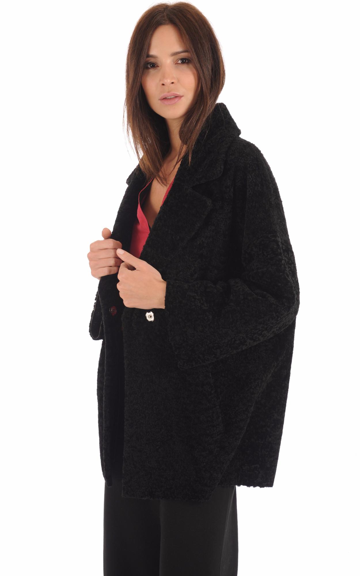 Veste Kimono Réversible Mouton Noir1