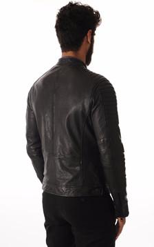 Blouson Cuir Noir Style Motard