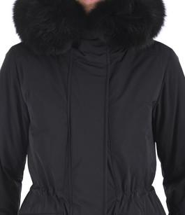 Parka renard noire Woolrich