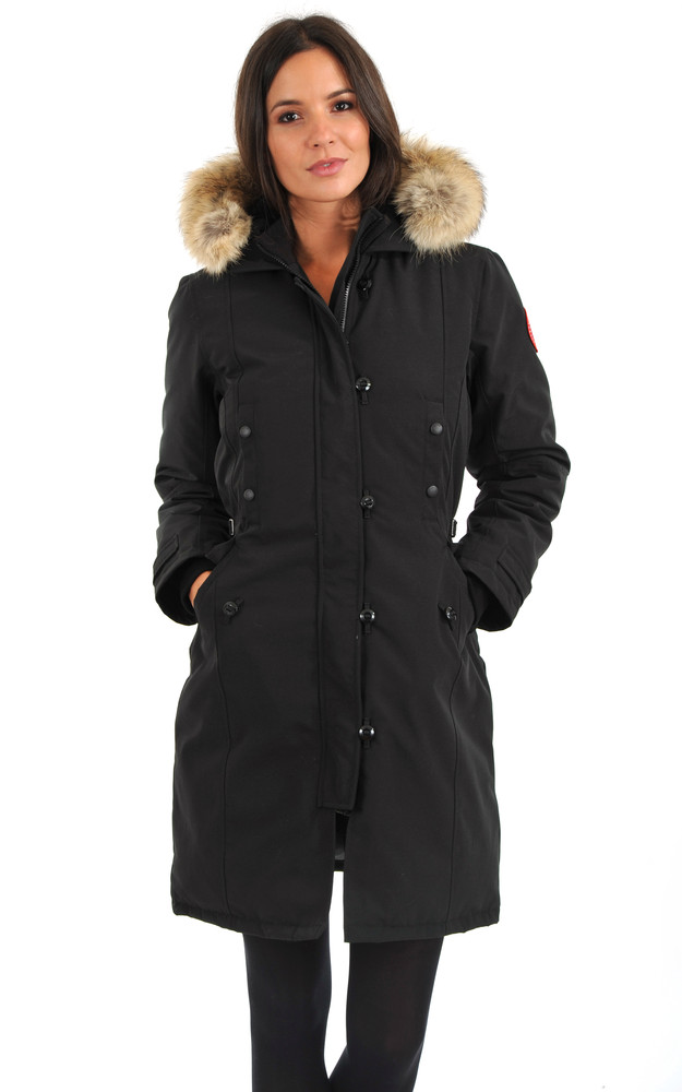 parka kensington noir canada goose la canadienne doudoune parka textile noir. Black Bedroom Furniture Sets. Home Design Ideas