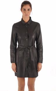 Robe / Surveste Cuir Ceinturée Noire1