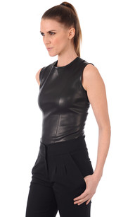 Top Sans Manches Cuir Stretch1