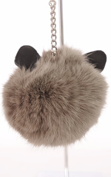 Porte Clef Lapin Taupe