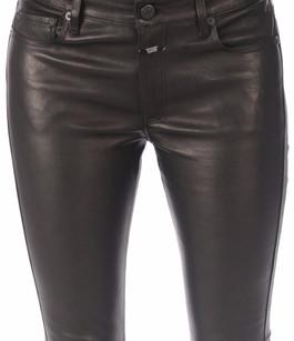 pantalon cuir femme closed la canadienne pantalon short cuir noir. Black Bedroom Furniture Sets. Home Design Ideas
