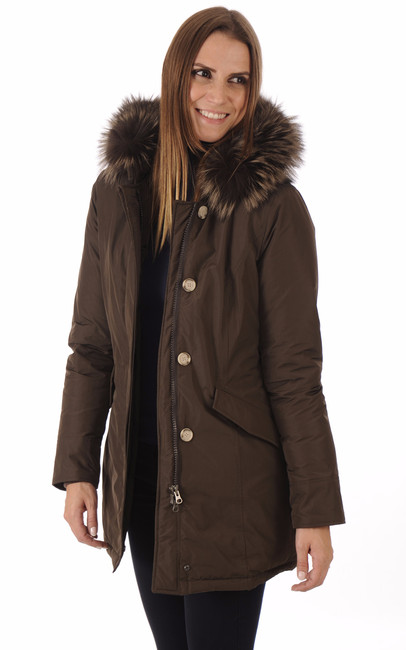 Parka Luxury Arctic Fox marron Woolrich