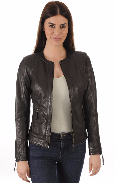 Blouson et veste cuir pour femme La Canadienne, Oakwood, Rose Garden ... 3f9ff6fa92e