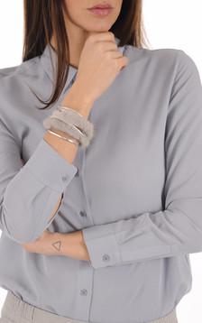Bracelet Fourrure Vison  gris1
