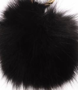 Porte Clef Fourrure de Renard Noire Miss Code