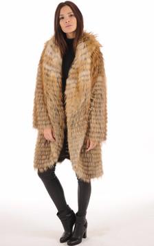 Manteau en Renard Roux Femme1