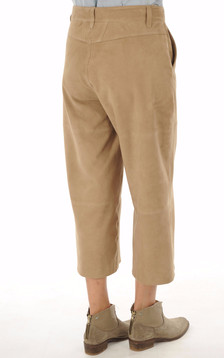 Pantalon chèvre velours sable