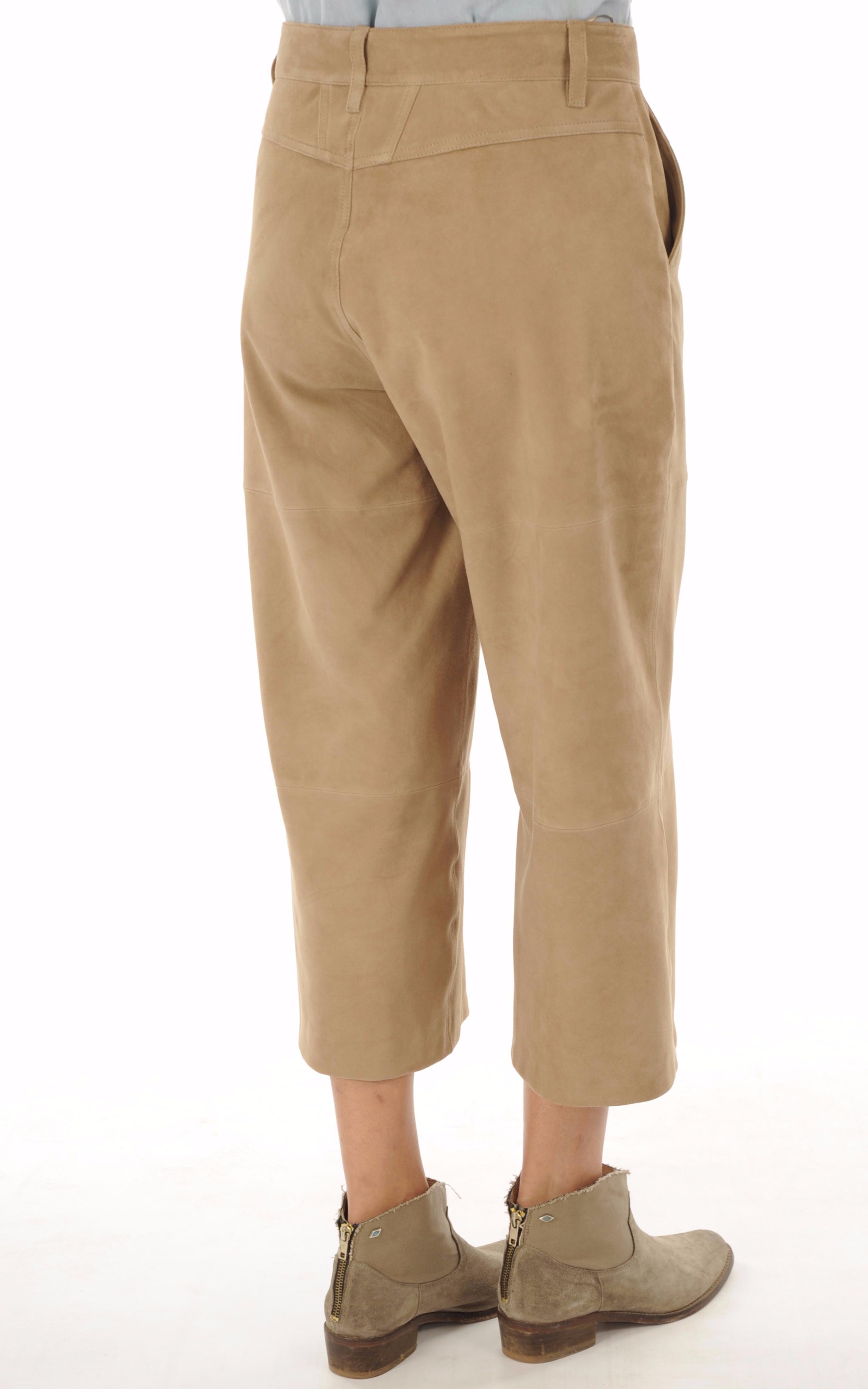 Pantalon chèvre velours sable Closed