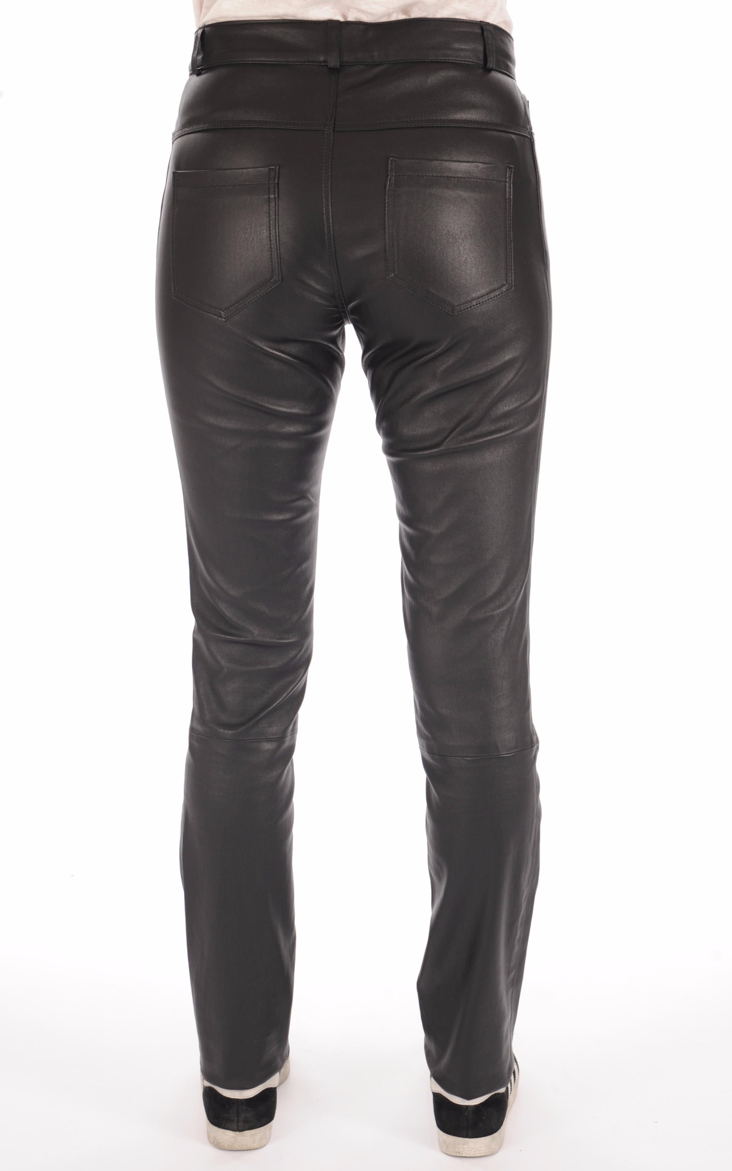 Pantalon slim cuir noir femme La Canadienne