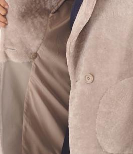 Manteau Oversize Mouton Beige Giorgio