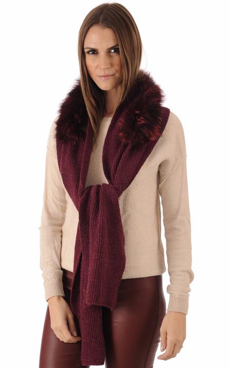 b9f9d8b0683a Miss Code Femme   écharpe, boa et snood en fourrure ou textile - La ...