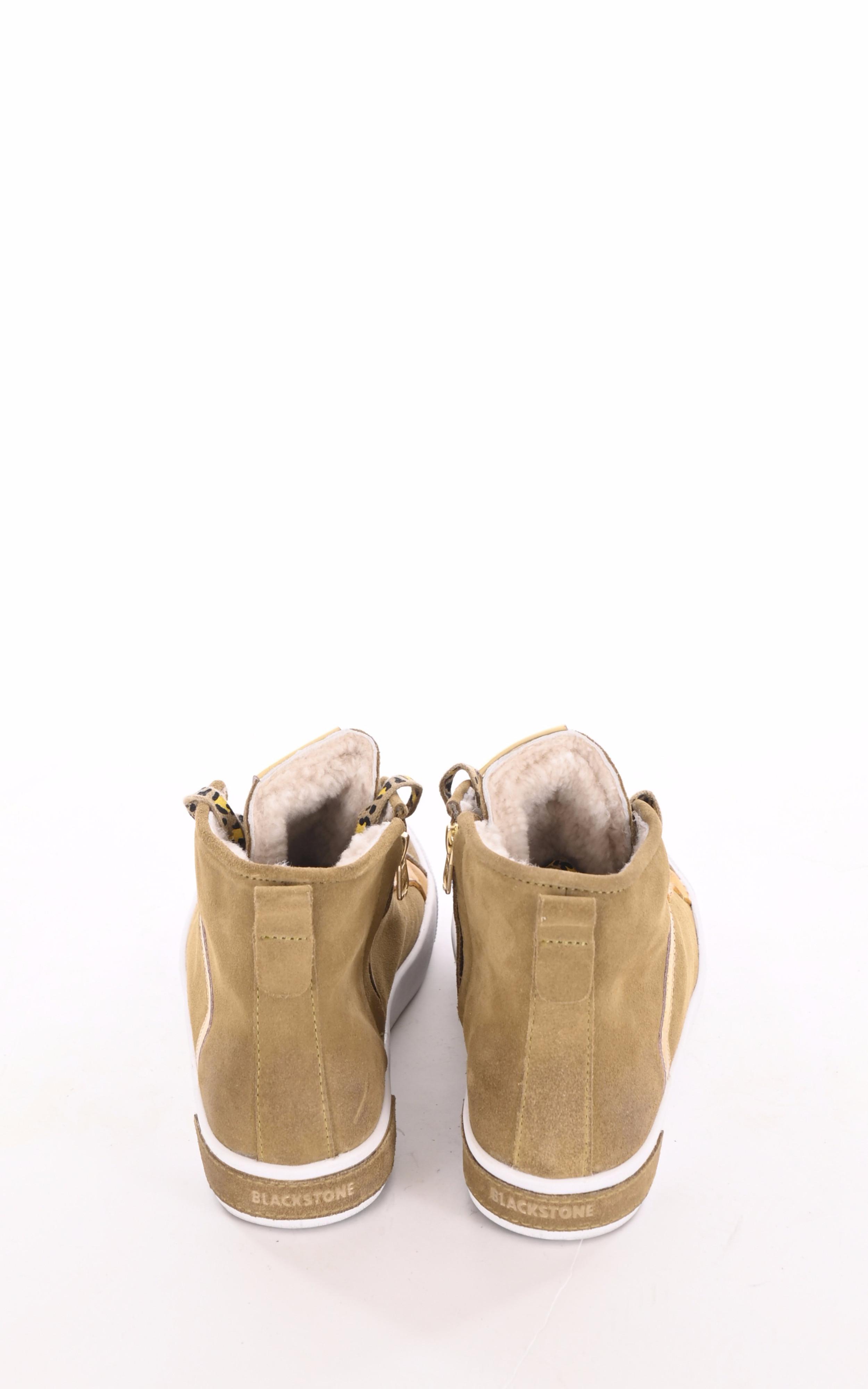 Baskets fourrées mouton camel Blackstone
