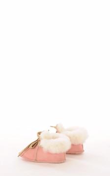 Chaussons Bébé Mouton Rose1