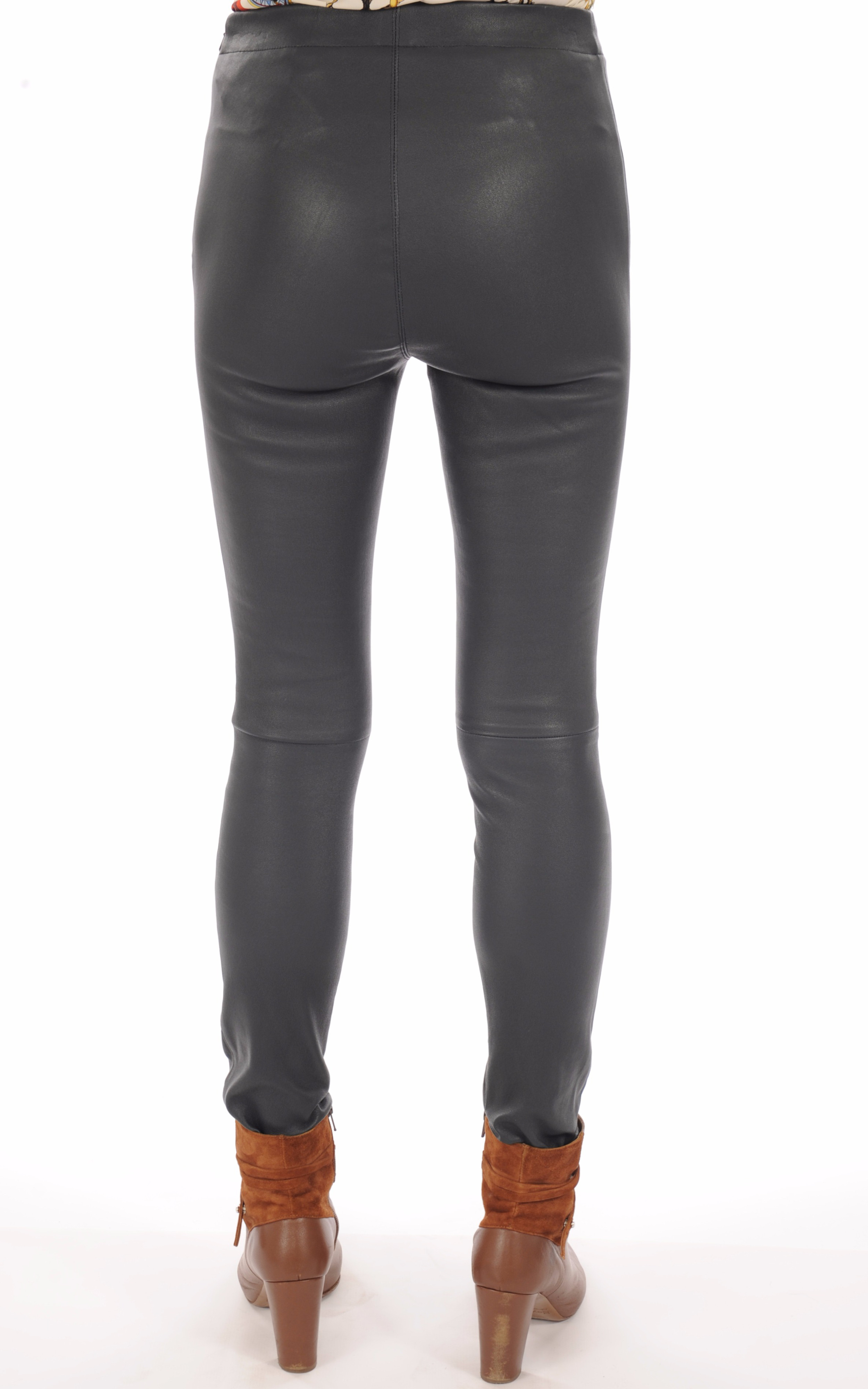 Legging Cuir Stretch Bleu Pétrole Oakwood