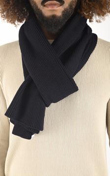 Echarpe en laine bleu marine