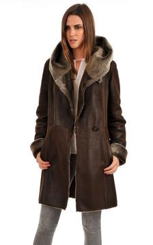 Manteau peau Lainée merinillo
