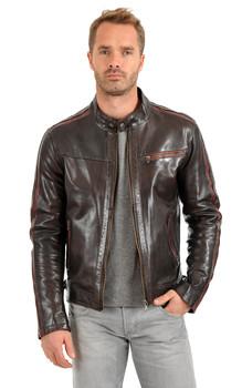 blouson cuir motard la canadienne vente de blouson en cuir. Black Bedroom Furniture Sets. Home Design Ideas