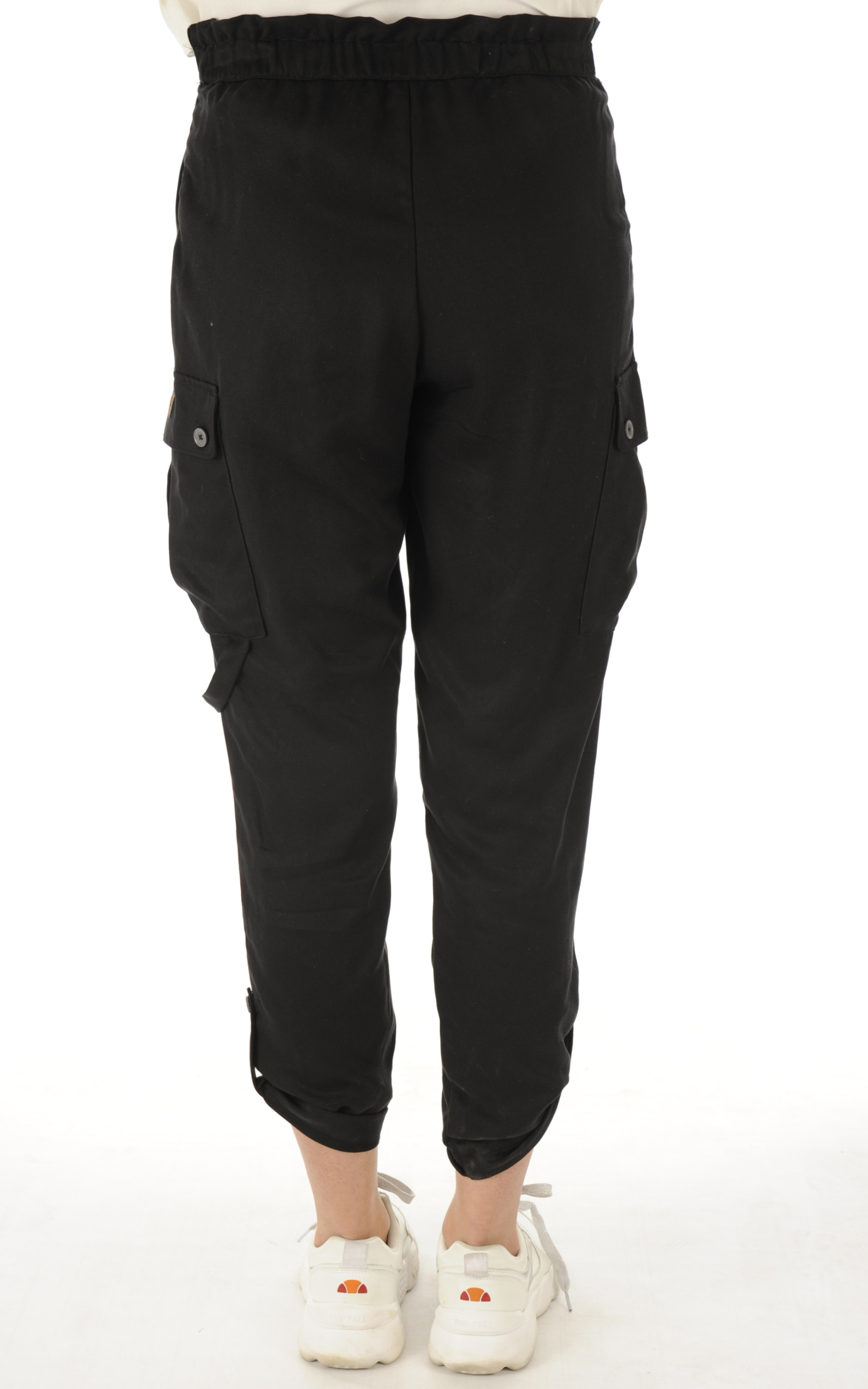 Pantalon en tencel noir Schott