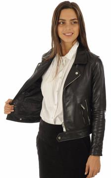 Blouson Stella en cuir noir
