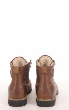 Boots Cuir Marron Fourrées Mouton