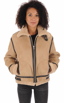 Bombardier col montant femme