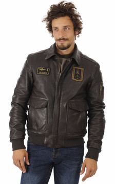 Blouson Cuir Marron Aviation Italienne