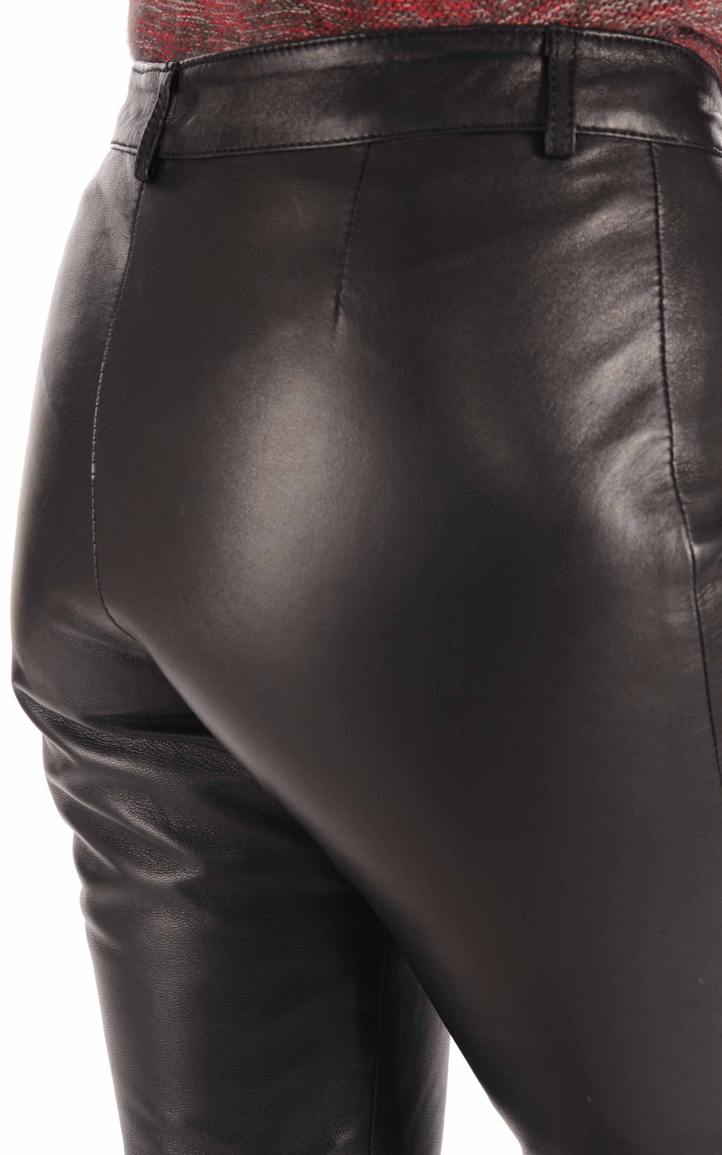 Pantalon Cuir Coupe Droite Maddox