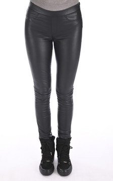 Legging cuir stretch noir