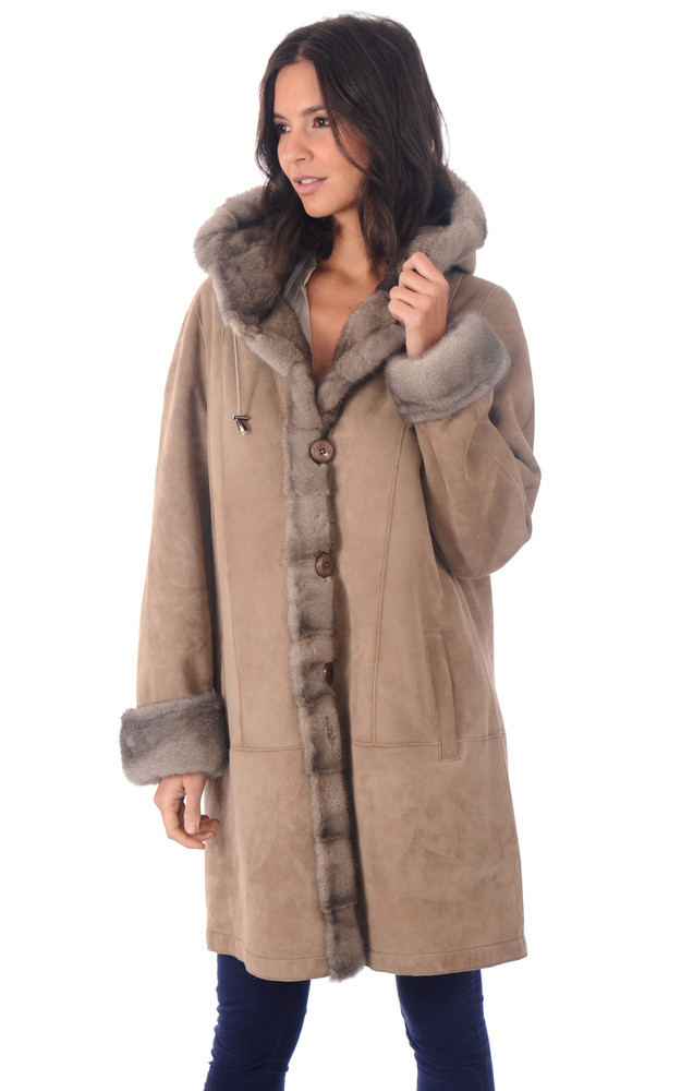 3 4 femme levinsky la canadienne veste 3 4 peau. Black Bedroom Furniture Sets. Home Design Ideas