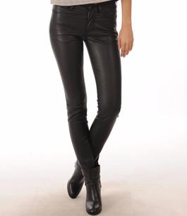 Pantalon Cuir Stretch Noir JS Vassal