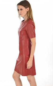 Robe cuir Feline rouge