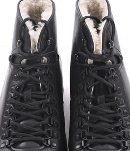 Boots montantes fourrées noires Blackstone
