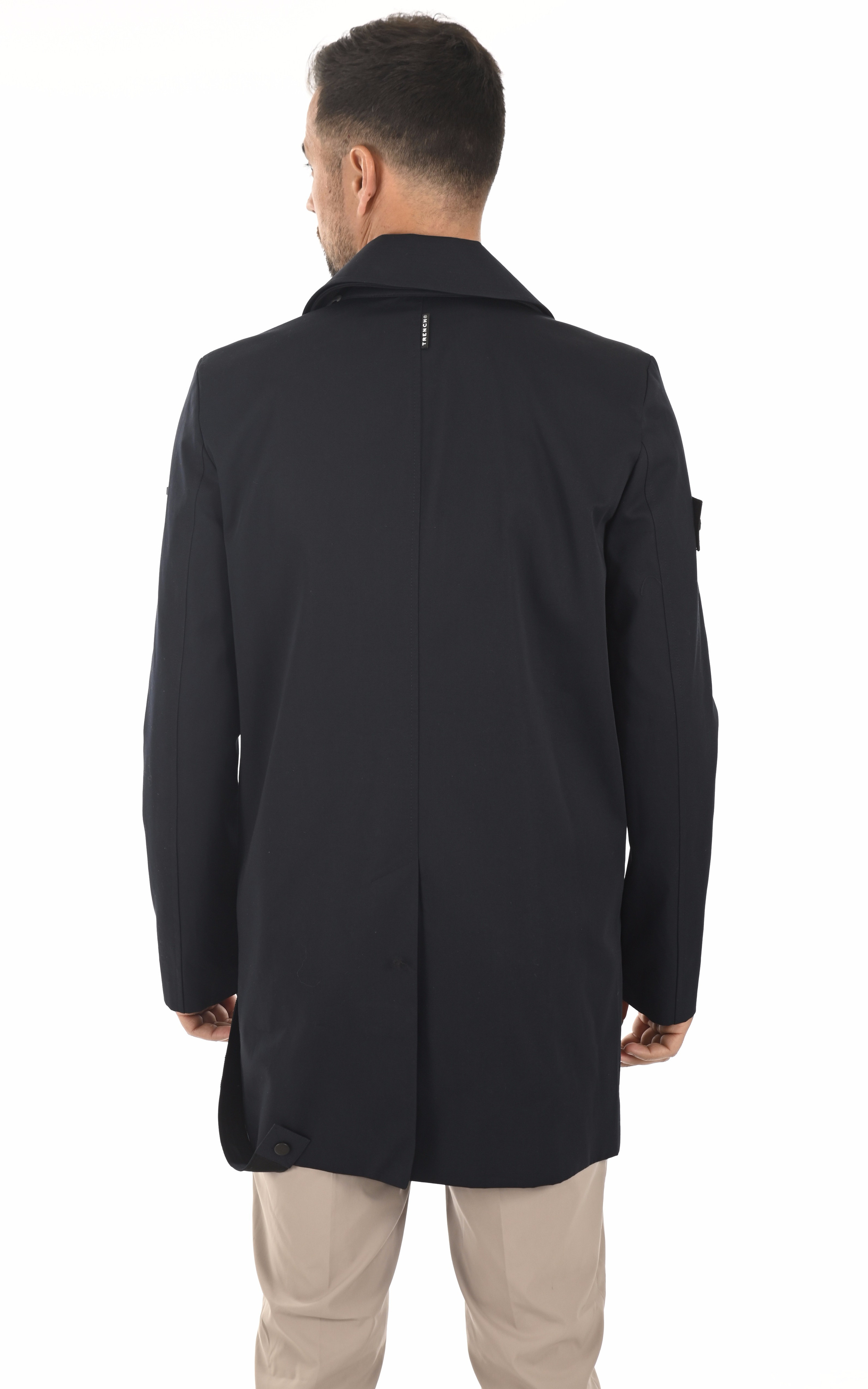 Trench Knigt Coat marine Trench London